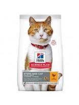 Hill's - Science Plan™ Feline Sterilised Cat Young Adult Chicken - За млади кастрирани котки от 6 месеца до 6 години (с пиле) - 1.500 кг.