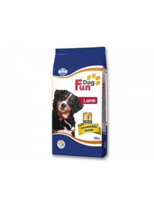 Fun Dog Adult Lamb 22/9 -  суха, гранулирана храна за кучета в зряла възраст с агнешко и с нормална физическа активност - 10 кг.