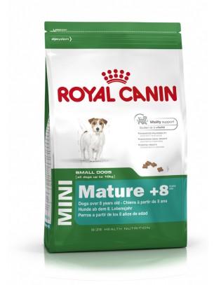 Royal Canin Mini Mature +8 - суха гранулирана храна за кучета над 8 години от дребните породи  - 8 кг.
