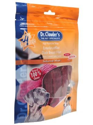 Dr. Clauder's - Filet Strips /pre biotik/ -  100% филенца от патешки гърди - 80 гр.