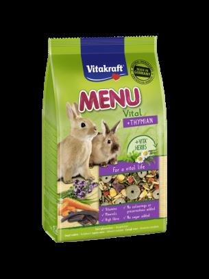 Vitakraft Premium Menu Vital - основна храна за зайчета с добавка ...