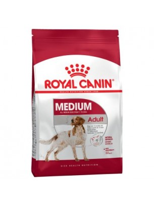Royal Canin Medium Adult - суха гранулирана храна за кучета над 1 год. от средните породи -  15 кг.