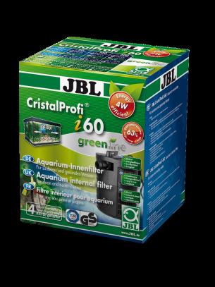 JBL Cristal Profi i60 greenline - Вътрешен, ъглов филтър за аквариуми до 80 л. или 60 см. дължина - 85 x 85 x 155 mm.