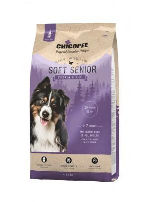 CHICOPEE - Classic Nature - Soft Senior - високо качествена, мека, полувлажна храна за възрастни кучета над 7 години с пилешко и ориз - 15 кг.