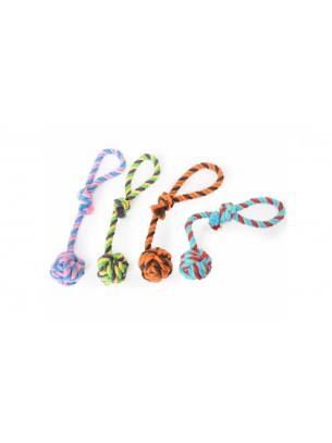 Camon - Играчка за куче - топка + въже - различни цветове - 30 см.