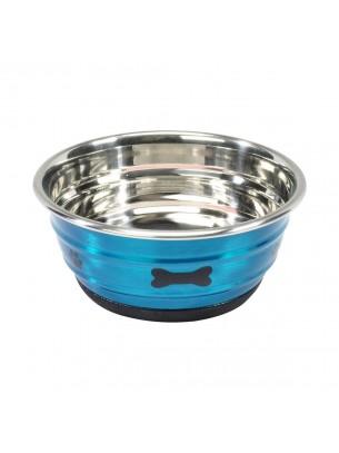 Camon - New selecta - Купа за домашни любимци от високо качествена стомана, покрита с нехлъзгаща се гума - 15.5 см. 0.950 л.- синя