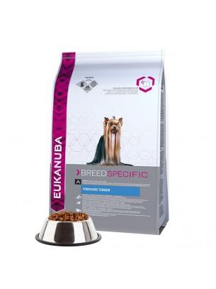Eukanuba Yorkshire Terrier - за кучета над 1 година от порода Йоркширски териер, Кавалер Кинг Чарлз, Ши цу, Мини пудел и др. - 2 кг.