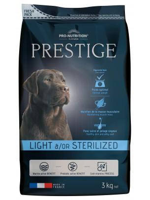 Flatazor Prestige Adult Light / Sterilized - пълноценна храна за кучета средни и големи породи със склонност към напълняване или кастрирани  с пилешко, патешко и свинско месо - 3 кг.