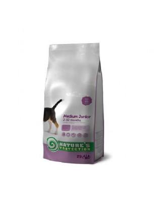 NATURE'S Protection - Medium Junior - Super Premium суха храна за подрастващи кученца от средните породи (от 11 до 25 кг.) от 2 до 12 месечна възръст - с пилешко месо - 2 кг.