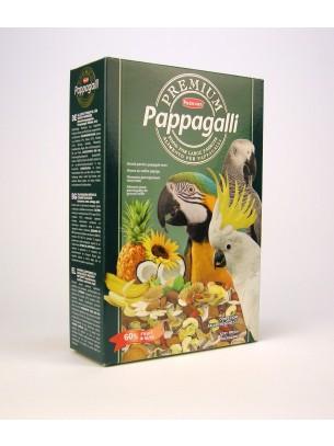 Padovan - PREMIUM PAPAGALLI - премиум храна с много плодове и ядки за големи папагали - 0.500 кг.