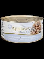 Applaws Tuna Fillet with Cheese - високо качествен консерва за котки над 12 месеца с филе от риба тон и сирене в бульон - 70 гр.