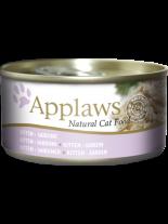 Applaws Kitten Sardine in Jelly - високо качествен консерва за подрастващи котки от 1 до 12 месеца с месни хапки от сардина в желе - 70 гр.