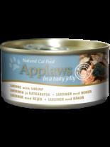 Applaws Sardine with Shrimp in Jelly - високо качествен консерва за котки над 12 месеца с месни хапки от сардина и скариди в желе - 70 гр.