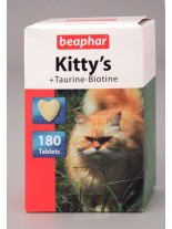 Beaphar Kitty's Taurine+Biotine - Котешки сърчица – добавка към храната за котки над 1 год.  - 180 бр.