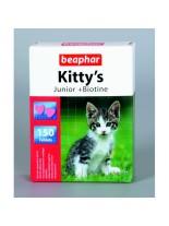 Beaphar Kitty's Junior - витаминни сърца с Biotin и Taurine за малки котенца - 150 бр.