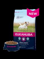 Eukanuba Small Breed Adult CHICKEN - суха храна за възрастни кучета над 1 година от малките породи с нормална активност - 1 кг.