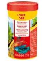 Sera San - балансирана храна за подсилване цветовете на аквариумните рибки - 100 мл.