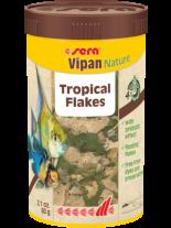 Sera Vipan Nature - основна храна за декоративни рибки на люспи - без оцветители и консерванти - 250 мл.