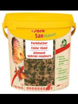 Sera San Nature Color flakes- основна храна за подсилване на оцветяването при всички декоративни рибки с астаксантин и крил - 10000 мл. - 2 кг
