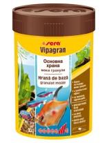 Sera Vipagran - балансирана, всекидневна храна подходяща за аквариумни рибки обитаващи средните водни слоеве - 100 мл.