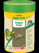Sera Guppy Gran Nature - специално разработена вегитарианска храна за гупи, на леки гранули - 100 мл.