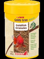 Sera Goldy Gran Nature - основна гранулирана храна за по-големи златни рибки с 4% брашно от насекоми - 100 мл.