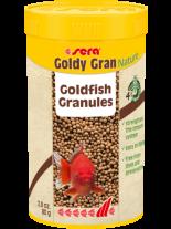 Sera Goldy Gran Nature - основна гранулирана храна за по-големи златни рибки с 4% брашно от насекоми - 250 мл.