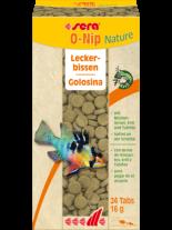 Sera O-Nip Nature - специално разработена храна - лакомство за декоративни рибки със 7% крил за отлично здравословно състояние - 24 таблетки.
