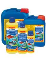 Sera Toxivec - Препарат неутрализиращ  високите нива на амоний, амоняк, нитрити, хлор, тежки метали и други във водата - 2500 мл. - със заявка