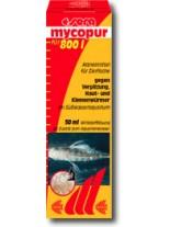 Sera Mycopur-  Медикамент за борба с плесени, гъбички, червеи и паразити по хрилете на аквариумните рибки - 500 мл.