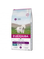 Eukanuba daily care Sensitive Skin - терапевтична храна за кучета от всички породи над 1 година с кожни проблеми - 12.5 кг.