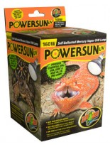 ZooMed PowerSun - Лампа за отопление, UV и осветление - 160W