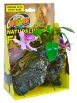 Zoo Med Naturalistic Flora™ Orchid with Rock - горско растение с тежка основа с мъх, 20 см.