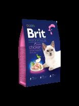 Brit Premium Cat Adult Chicken - Delicate chicken with chicken liver - пълноценна храна за котки над 1 година с пилешко месо - 1.5 кг.
