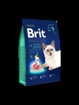 Brit Premium Cat Sensitive - Hypoallergenic lamb - пълноценна храна за котки над 1 година с чувствителна храносмилателна система с агнешко месо и сьомга - 8 кг.