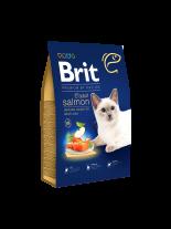Brit Premium Cat Adult Salmon Delicate salmon and salmon gravy - пълноценна храна за котки над 1 година за красива и здрава козина със сьомга и Омега 6 - 0.300 кг.