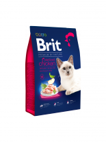 Brit Premium Cat Sterilised - Delicate chicken with chicken liver - пълноценна храна за кастрирани котки над 1 година с пилешко месо и черен дроб - 1.500 кг.