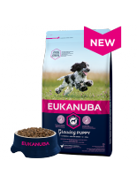 Eukanuba Puppy Medium Breed CHICKEN - суха храна за кученца до една година от средните породи  (10-25 кг.) - 3 кг.