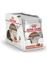 Royal Canin pouch Ageing + 12 - пауч за котки над 12 година (тънки късчета в сос) - 85 гр.
