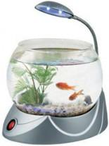 HAILEA кръгъл аквариум MINI V-01 с осветление 2.5 литра - сребърен