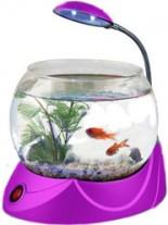 HAILEA кръгъл аквариум MINI V-02 с осветление 1.8 литра - розов