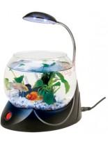 HAILEA кръгъл аквариум MINI V-01 с осветление 2.5 литра - черен