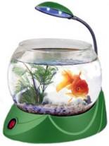 HAILEA кръгъл аквариум MINI V-02 с осветление 1.8 литра - зелен