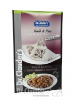 Dr. Clauder's - Premium Pouches - телешко,пуика в желе - 100 гр.