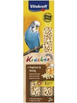 Vitakraft kräcker klassik popfit - крекер за вълнисти папагали с пуканки, просо и мед за добра кондиция - 2 бр. - 85 гр.