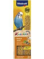 Vitakraft kräcker klassik honig - крекер за вълнисти папагали с мед и сусам - 2 бр. - 85 гр.