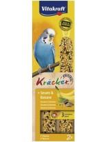 Vitakraft Kraeker Sesam Banane - крекер за вълнисти папагали със сусам и банани - 2 бр. - 89 гр.