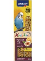 Vitakraft kräcker klassik frucht - крекер за вълнисти папагали с кайсии и смокини - 2 бр. - 85 гр.