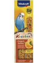 Vitakraft kräcker klassik orange - крекер за вълнисти папагали с портокал и кайсии - 2 бр. - 85 гр.