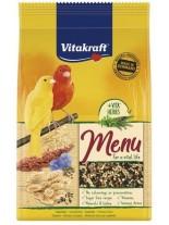 Vitakraft Menu Vital Honey - основна храна за канарчета с мед - 0.500 кг.